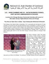 April 12, 2013: NUSACC Supports Qatar Launch Events in Chicago