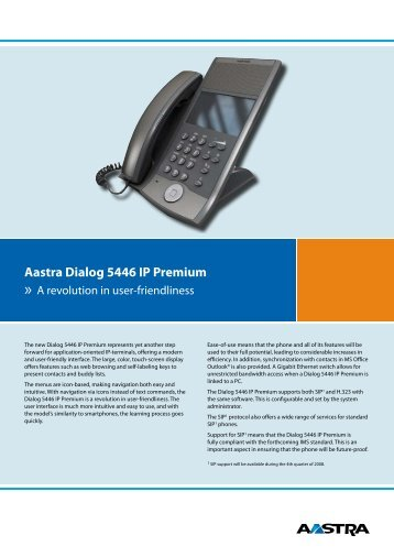 Aastra Dialog 5446 IP Premium - Alison