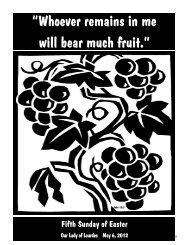 """""""Whoever remains in me will bear much fruit."""" - The Parish Family of ..."""