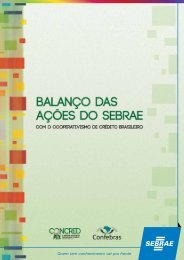 Balanço das ações do Sebrae com o cooperativismo de crédito ...
