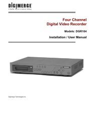Four Channel Digital Video Recorder - Digimerge