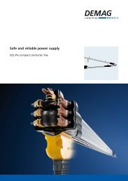 Safe and reliable power supply - Demag Cranes & Components