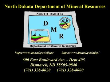 North Dakota Department of Mineral Resources - Energy From Shale