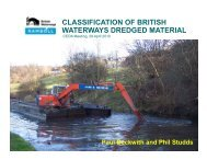 CLASSIFICATION OF BRITISH WATERWAYS DREDGED MATERIAL