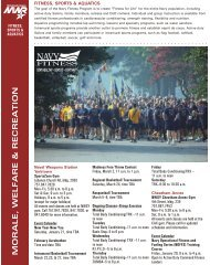 Navy Mid-Atlantic Region Fitness & Sports Schedules