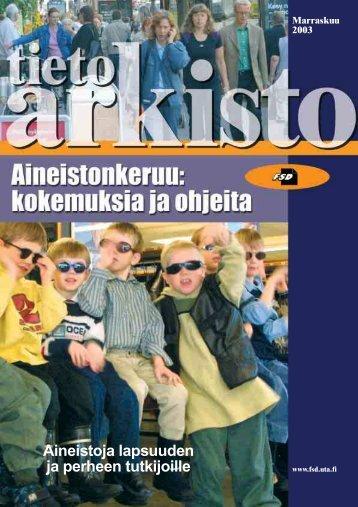 PDF-tiedostona - Yhteiskuntatieteellinen tietoarkisto - Tampereen ...