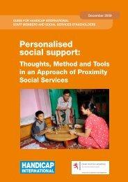 Personalised social support: - Handicap International