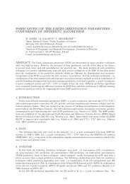 forecasting of the earth orientation parameters - SYRTE