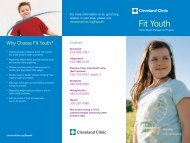 Fit Youth - Cleveland Clinic