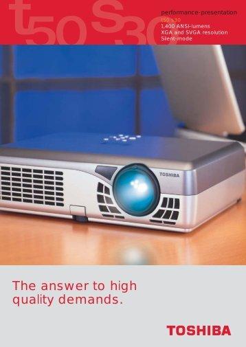 Prospekt T 50/S30 (E) - Toshiba