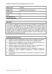 HTM539, Hospitality Revenue Management - School of Hotel ...