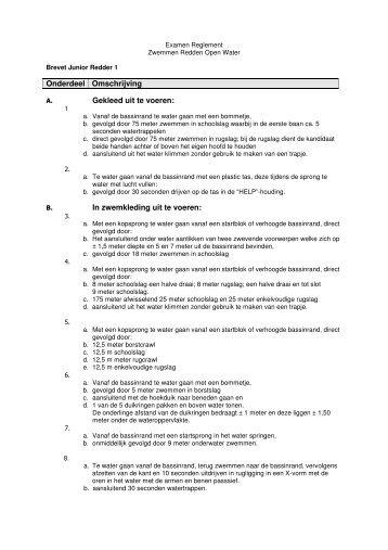 Examenreglement junior redder 1