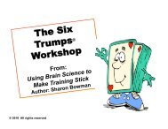 The Six Trumps Workshop Slide Set - Sharon Bowman