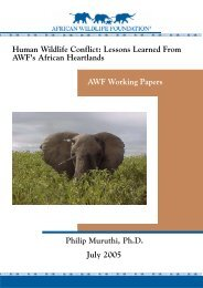AWF Human Wildlife Conflict paper.pmd - African Wildlife Foundation