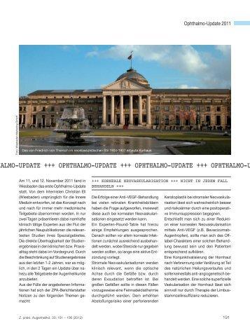 Ophthalmo-Update 2012 - Dr. R. Kaden Verlag