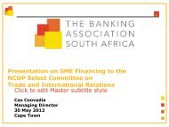 Banking Association of South Africa - Department of Trade and ...