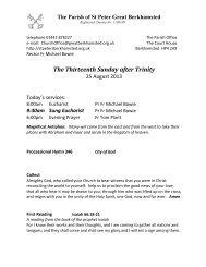 The Thirteenth Sunday after Trinity - St Peter's Church, Berkhamsted ...