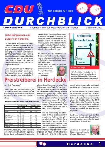 Durchblick - CDU-Stadtverband Herdecke