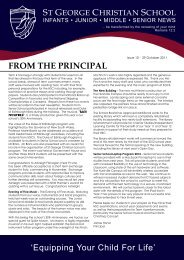 Issue 10 2011.pdf - St George Christian School