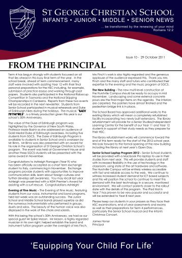 Issue 10 2011.pdf - St George Christian School