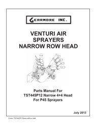 VENTURI AIR SPRAYERS NARROW ROW HEAD