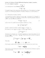 Section 15: Solution of Partial Differential Equations; Laplace's ...
