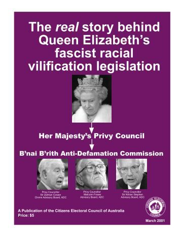 The real story behind Queen Elizabeth's fascist racial vilification ...