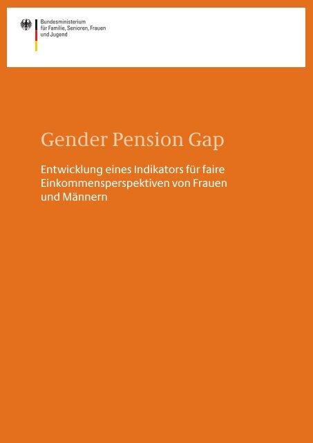 Gender Pension Gap - Bundesministerium für Familie, Senioren ...