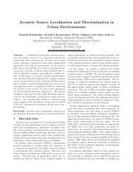Acoustic Source Localization and Discrimination in ... - CiteSeerX