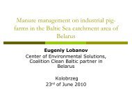 Manure management on industrial pig- farms in ... - Baltic Green Belt