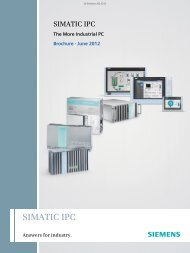 SIMATIC IPC The More Industrial PC • June 2012 - Industry