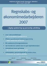 Regnskabs- og økonomimedarbejderen 2007 - MBCE