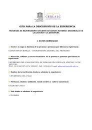 Programa de mejoramiento docente en lengua materna - Cerlalc