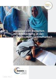 Inklusion von Menschen mit Behinderung in der ... - bezev eV