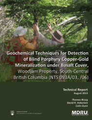 Geochemical Techniques for Detection of Blind ... - Geoscience BC