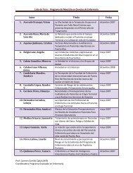 Lista de Tesis: Programa de Maestría en Ciencias de Enfermería