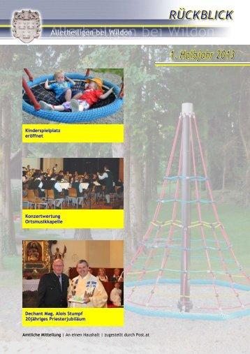 Rückblick 1. Halbjahr 2013 - Gemeinde Allerheiligen bei Wildon