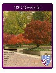 USU Newsletter - Uniformed Services University of the Health ...
