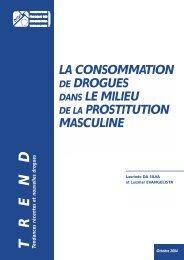 Drogues dans la prostitution masculine OFDT 04 - Ecpat France