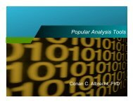 Data Analysis - Tools and Applications