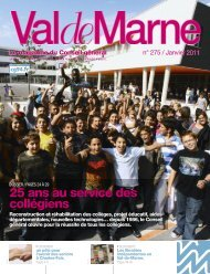 ValdeMarne n°275 / Janvier 2011 - Conseil général du Val-de-Marne