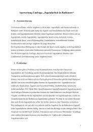 """Auswertung Umfrage """"Jugendarbeit in Rathenow"""" - Diakonisches ..."""