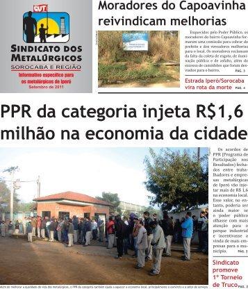 Iperó - Sindicato dos Metalúrgicos de Sorocaba e Região