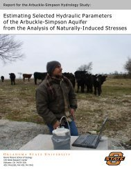 Estimating Selected Hydraulic Parameters of the Arbuckle-Simpson ...