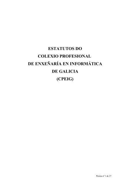 Sumario del Diario Oficial de Galicia - Colexio Profesional de ...
