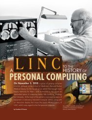 A LINC to the History of Personal Computing - Mallinckrodt Institute ...