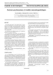 MALCHAIRE J., VERGRACHT S., COCK N., PIETTE A. (2000)