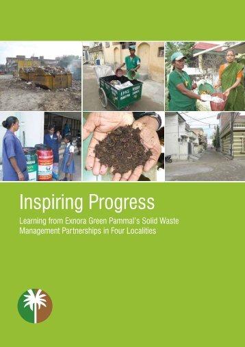 Inspiring Progress document - Exnora Green Pammal