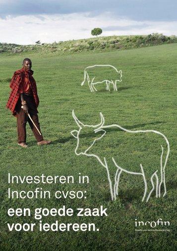Investeren in Incofin cvso: een goede zaak voor iedereen.