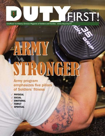 Army program emphasizes five pillars of Soldiers' fitness